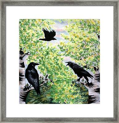 Imparting Wisdom Framed Print by Linda Marcille