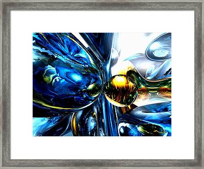 Impassioned Abstract Framed Print by Alexander Butler