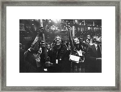 Impassioned Couple 1972 Democratic National Convention Miami Beach Florida  Framed Print by David Lee Guss