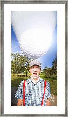 Impending Golf Injury Framed Print by Jorgo Photography - Wall Art Gallery