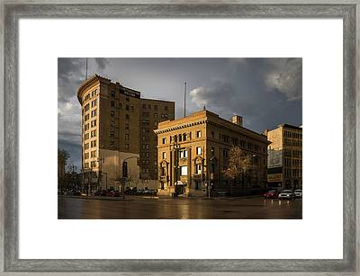 Imperial Bank Of Canada/confederation Building Framed Print by Bryan Scott