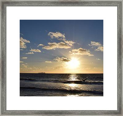 Sunset Reflection At Imperrial Beach Framed Print