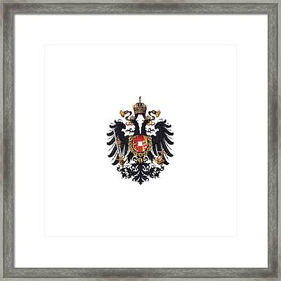 Imperial Coat Of Arms Of The Empire Of Austria-hungary 1815 Transparent Framed Print