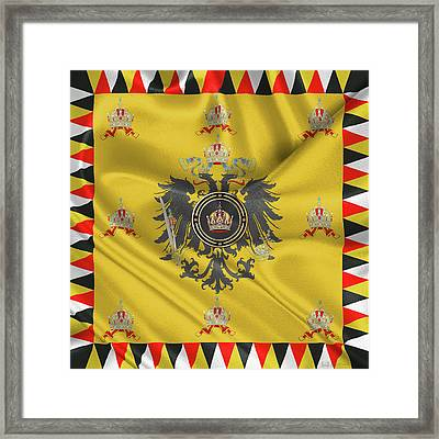 Imperial Crown Of Austria Over Standard Of The Emperor Framed Print by Serge Averbukh