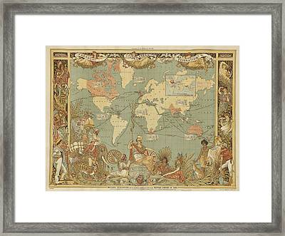 Framed Print featuring the digital art Imperial Map by Digital Art Cafe