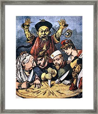 Imperialism Cartoon Framed Print