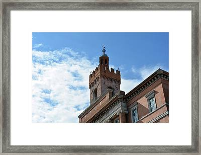 Important Brick Building In Foligno, Italy Framed Print by Oana Unciuleanu