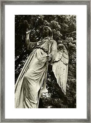Imposing Angel Framed Print by Brigid Nelson