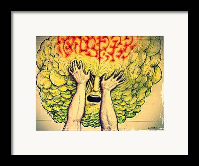 Psychological. Selfishness Digital Art Framed Prints
