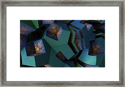 Impossible Boxes Framed Print by Hal Tenny