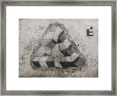 Impossible Column Framed Print by Luca Maiorescu