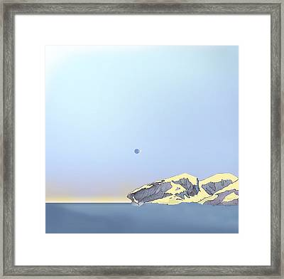 Impossible Eclipse Framed Print by Tristan  Bryan