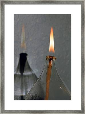 Framed Print featuring the digital art Impossible Shadow Oil Lamp by Jana Russon