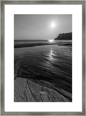 Impression From Talisker Beach Framed Print by Davorin Mance