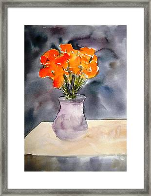 Impression Of Flowers Framed Print
