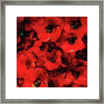 Impression Of Poppies Framed Print