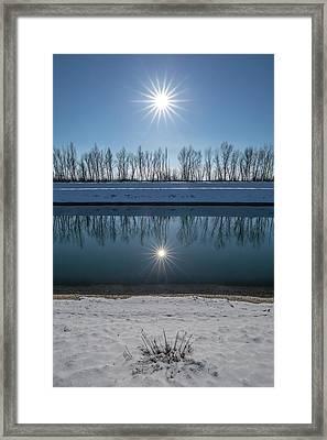 Impression Of Reflection Framed Print by Davorin Mance