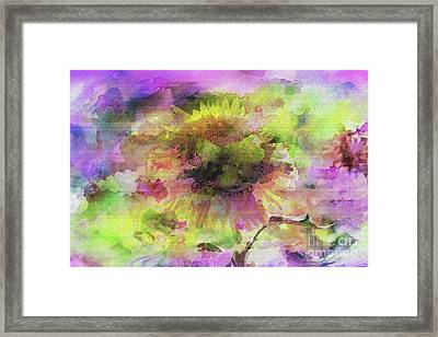 Impression Sunflower Framed Print