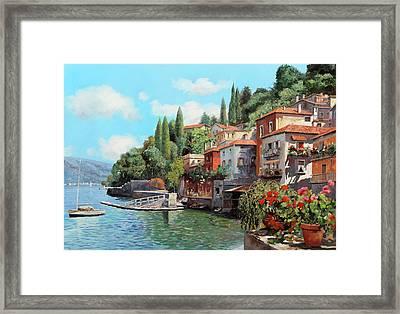 Impressioni Del Lago Framed Print by Guido Borelli