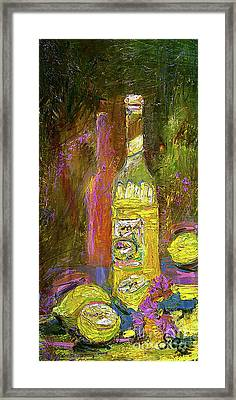 Framed Print featuring the painting Impressionism Still Life With Lemons by Ginette Callaway