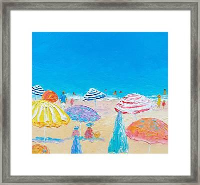 Impressionist Beach Painting Framed Print