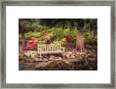Framed Print featuring the photograph Impressionist Bench by James Barber