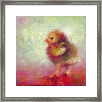 Impressionist Chick Framed Print