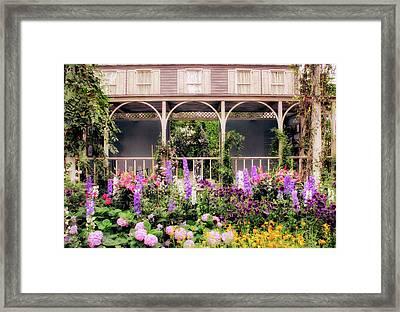 Impressionist Garden Framed Print by Jessica Jenney