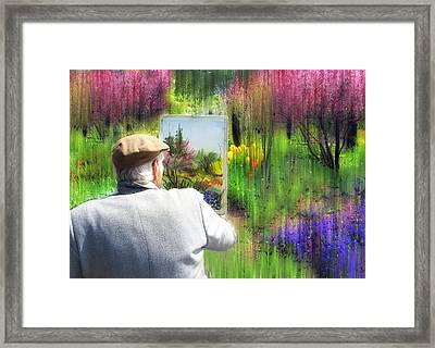 Impressionist Painter Framed Print by Jessica Jenney