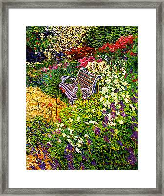 Impressionist Painter's Chair Framed Print