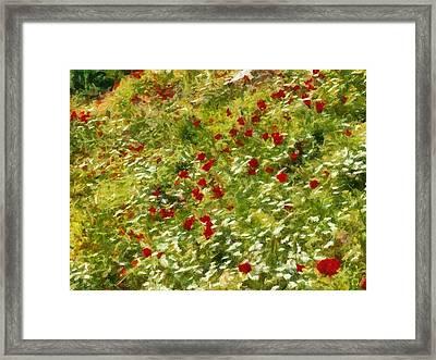 Impressionist Poppies Framed Print