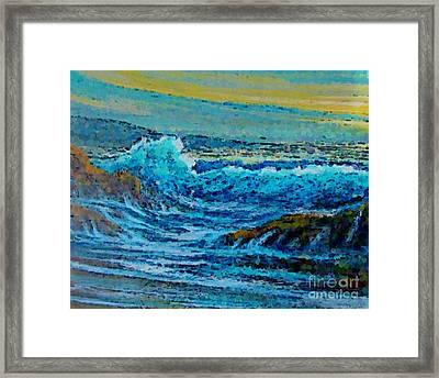 Impressionist Seascape Framed Print by John Malone