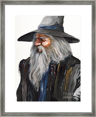 Impressionist Wizard Framed Print by J W Baker