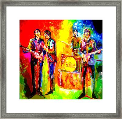 Impressionistc Beatles  Framed Print by Leland Castro