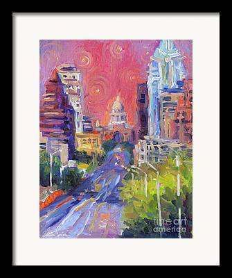 Capitol Of Austin Framed Prints
