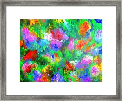 Impressionistic Garden Framed Print
