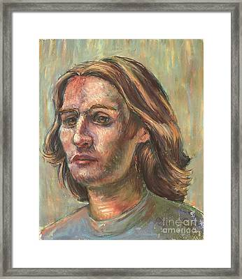 Framed Print featuring the pastel Impressionistic Portrait by Lisa DuBois