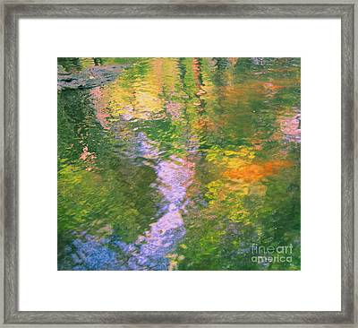 Impressionistic River Reflection Framed Print by Sybil Staples
