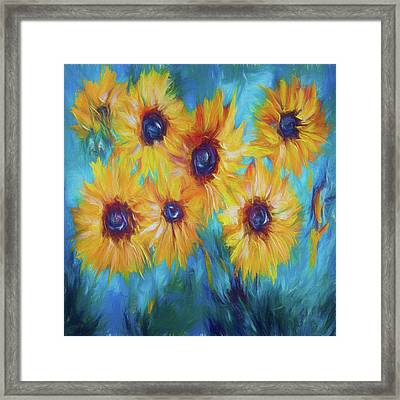 Impressionistic Sunflowers Framed Print by Art OLena