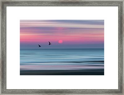 Impressionistic Sunset At Widemouth Bay, Bude, Cornwall, Uk.  Framed Print by Maggie McCall