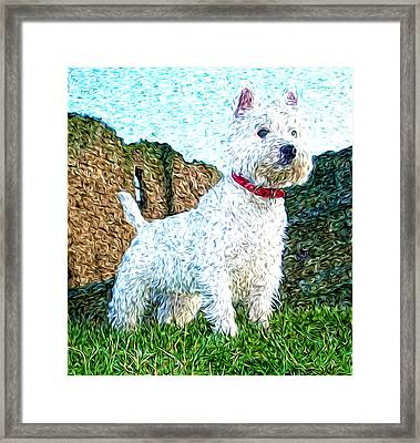 Impressionistic Westie Framed Print by Laura Brightwood