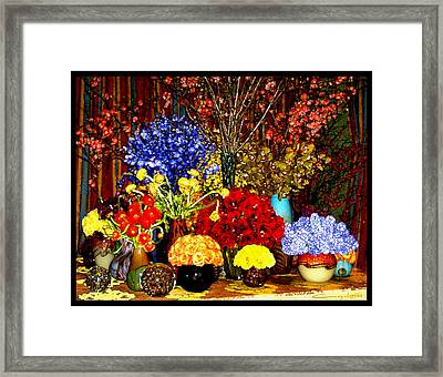 Impressions Framed Print by Caroline Czelatko