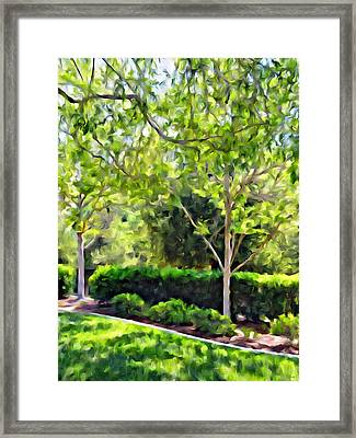 Impressions From A Park - One Framed Print