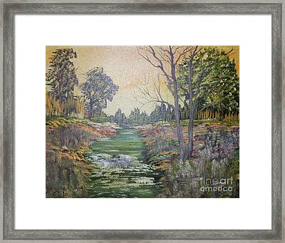 Impressions In Oil - 1 Framed Print by Bill Turck