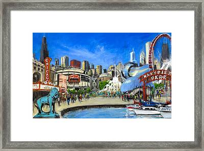 Impressions Of Chicago Framed Print by Robert Reeves