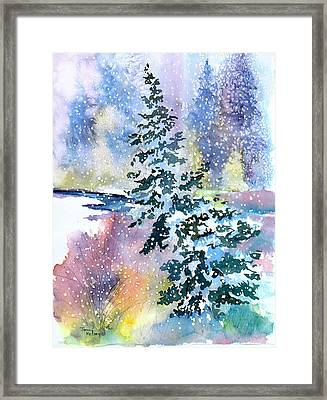 Impressions Of Christmas Framed Print