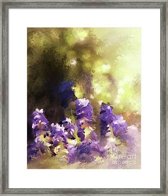 Impressions Of Muscari Framed Print by Lois Bryan