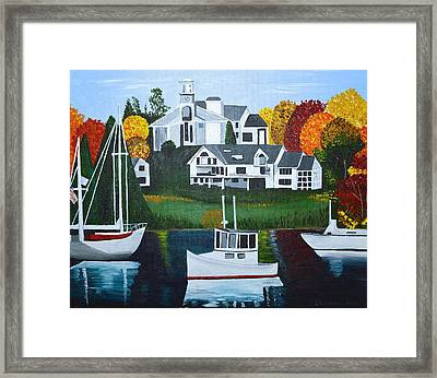 Impressions Of New England Two Framed Print by Donna Blossom