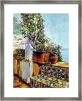 Impressions Of The Riviera Framed Print by David Lloyd Glover