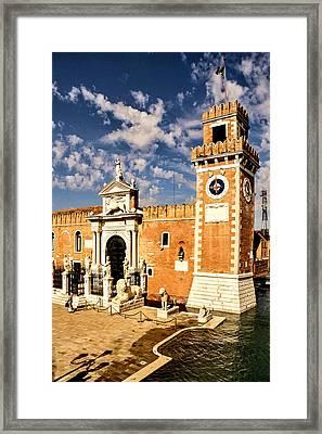 Impressions Of Venice - Arsenale Di Venezia Lions Framed Print